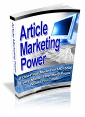 Product picture Article Marketing Power
